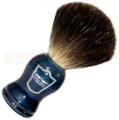 Parker Black Badger Shave Brush, Blue Wood Handle, BLHBB