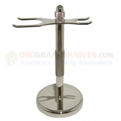 Chrome 2 Prong Shave Stand, C2PGSS