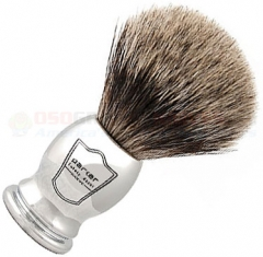 Parker Pure Badger Shave Brush, Chrome Handle, CHPB