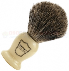 Parker Pure Badger Shave Brush, Ivory Handle, IHPB