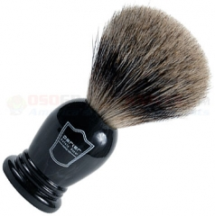 Parker Pure Badger Shave Brush, Oversized Black Handle, LHPB