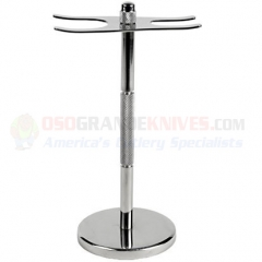 Deluxe Stainless Steel Shave Stand (Fits Standard Razors and Brushes) SSST