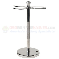 Stainless Steel Straight Razor & Brush Stand STR8STND