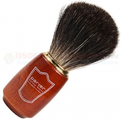 Parker Black Badger Shave Brush, Schima Wood and Gold Handle, SWBB