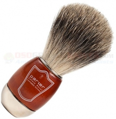 Parker Pure Badger Shave Brush, Schima Wood and Chrome Handle, SWCPB