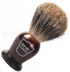 Parker Pure Badger Shave Brush (Super Soft 100% Pure Badger Hair Shaving Brush) Tortoise Handle THPB