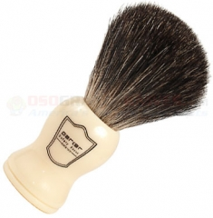 Parker Black Badger Shave Brush, White Handle, WHBB