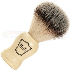 Parker Synthetic Bristle Shave Brush, Faux Ivory Handle, WHSY