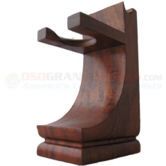 Mission Style Wood Shave Stand for Razor/Brush (3 x 4 x 3 Inches) Beautiful Walnut Finish WSS