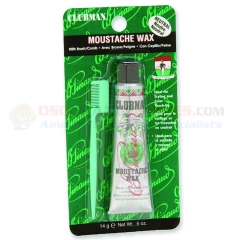 Clubman Moustache Wax Kit with Brush/Comb, Neutral