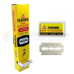 Feather Hi-Stainless Double Edge Safety Razor Blades (100 Pack) FEA1-30-100