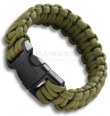 CRKT 9300DS Onion Para-Saw Survival Paracord Bracelet Small, OD Green