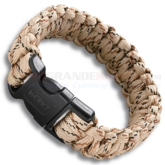 Columbia River CRKT Onion Para-Saw Survival Paracord Bracelet Small (Tan) 9300TS