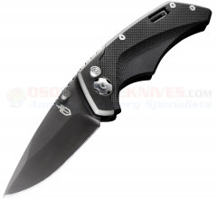 Gerber Contrast AO Assisted Opening Folder 3 Inch Black PlainEdge, G10 and Steel Handles 30-000643