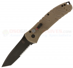 Gerber Propel Downrange AO Assisted (3.51 Inch Black S30V Tanto ComboEdge) Tan G10 Handles 30-000841