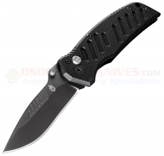 Gerber Mini Swagger AO Assisted 2.75 Inch Black Drop Point PlainEdge, G10 Handles 30-000641
