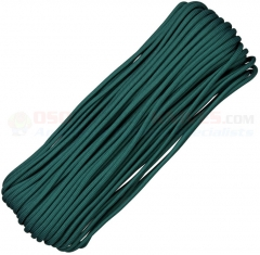 Teal Green 550 Paracord 100 ft. Hank (Type III Mil Spec 7 Strand Parachute Cord) Made in USA RG015H