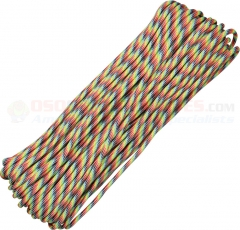 Light Stripes 550 Paracord 100 ft. Hank (Type III Mil Spec 7 Strand Parachute Cord) Made in USA RG018H
