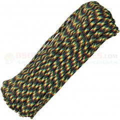 Galaxy 550 Paracord 100 ft. Hank (Type III Mil Spec 7 Strand Parachute Cord) Made in USA, RG019H