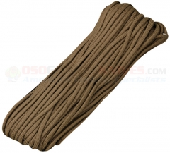 Brown 550 Paracord 100 ft. Hank (Type III Mil Spec 7 Strand Parachute Cord) Made in USA, RG027H