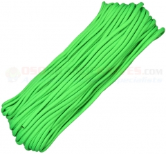 Lime Green 550 Paracord 100 ft. Hank (Type III Mil Spec 7 Strand Parachute Cord) Made in USA RG1023H
