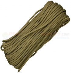 Coyote 550 Paracord 100 ft. Hank (Type III Mil Spec 7 Strand Parachute Cord) Made in USA RG1024H