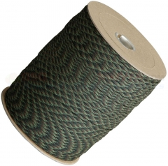 Woodland Camo 550 Paracord 1000 ft. Spool (Type III Mil Spec 7 Strand Parachute Cord) Made in USA RG1025S