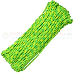 Lemon-Lime 550 Paracord 100 ft. Hank (Type III Mil Spec 7 Strand Parachute Cord) Made in USA RG1026H