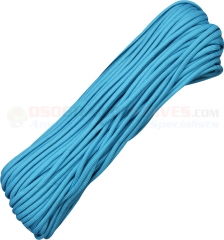 Neon Turquoise 550 Paracord 100 ft. Hank (Type III Mil Spec 7 Strand Parachute Cord) Made in USA RG1027H