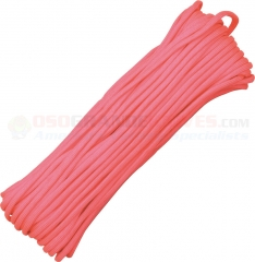 Baby Pink 550 Paracord 100 ft. Hank (Type III Mil Spec 7 Strand Parachute Cord) Made in USA RG1029H