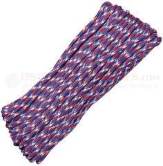 Liberty 550 Paracord 100 ft. Hank (Type III Mil Spec 7 Strand Parachute Cord) Made in USA RG110H