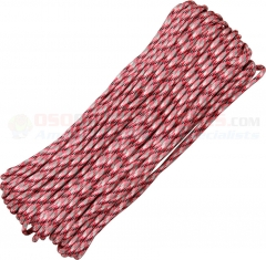 Pink Camo 550 Paracord 100 ft. Hank (Type III Mil Spec 7 Strand Parachute Cord) Made in USA RG111H