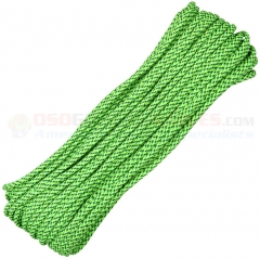 Green Speck Camo 550 Paracord 100 ft. Hank (Type III Mil Spec 7 Strand Parachute Cord) Made in USA RG112H