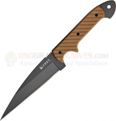 Columbia River CRKT 2010DK Crawford Kasper Dragon Combat Knife (4.5 Inch Black Wharncliffe Blade) Desert Tan G10 Handle + Kydex Sheath