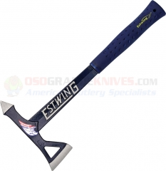 Estwing Black Eagle Tomahawk Axe, Blue with Nylon Vinyl Shock Reduction Grip E6-TA
