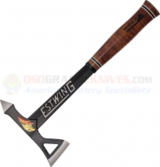 Estwing Black Eagle Tomahawk Axe, Black with Leather Handle ETA