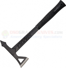 Estwing Black Eagle Tomahawk Axe, Black with Nylon Vinyl Shock Reduction Grip EBTA