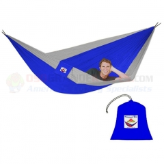 Hammock Bliss Triple Hammock, Blue/Silver