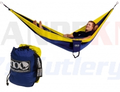 Eagles Nest Outfitters ENO Singlenest Hammock, Navy/Yellow