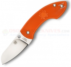 "Spyderco C163POR Pingo Folding Knife 2.35"" Plain N690CO Blade, Orange FRN Handles"