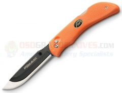 Outdoor Edge Razor-Blaze Folding Hunting Knife (3.5 Inch Replaceable Scalpel Razor-Sharp Blade) Blaze Orange TPR Handle + Mossy Oak Nylon Sheath RB-20
