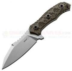 Boker Plus Colubris Fixed (4.25 Inch 440C Stonewash Plain Blade) Green G10 Handle + Kydex Sheath 02BO055