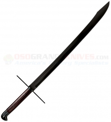 Cold Steel MAA Grosse Messer Sword (32 Inch Blued 1055 Carbon Steel Blade) Rosewood Grip + Wood/Leather Scabbard 88GMSM