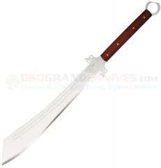Condor Tool & Knife Dynasty Dadao Sword (21.25 Inch Carbon Steel Blade) Hardwood Handle + Leather Sheath 35819HC