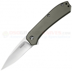 Kershaw Amplitude 2.5 Spring Assisted Knife (2.5 Inch Satin Blade) Stainless Steel Handle 3870