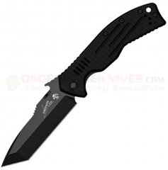 Kershaw Emerson CQC-8K Tanto Framelock Folding Knife (3.5 Inch Black Blade) G10 Handle 6044TBLK