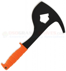 Ontario SP16 SPAX Orange Firefighter Axe Tool (8 Inch Carbon Steel Blade) Orange Kraton Handle + Leather Cordura Sheath 8687OR