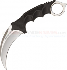 United Cutlery Honshu Karambit Fixed (4.0 Inch Hawkbill Satin Plain Blade) Overmolded Handle + Shoulder Sheath 2977