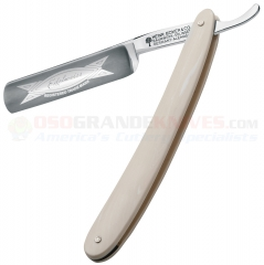 Boker Edelweiss Straight Razor (5/8 Inch Carbon Steel Blade) Faux Ivory Handle 140620