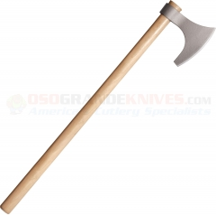 Cold Steel Viking Bearded Axe (6.25 Inch Drop Forged 1055HC Hawk w/ 6 Inch Edge) 30 Inch American Ash Handle 90WVBA